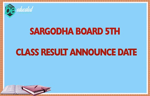 Sargodha Board 5th Class Result 2020