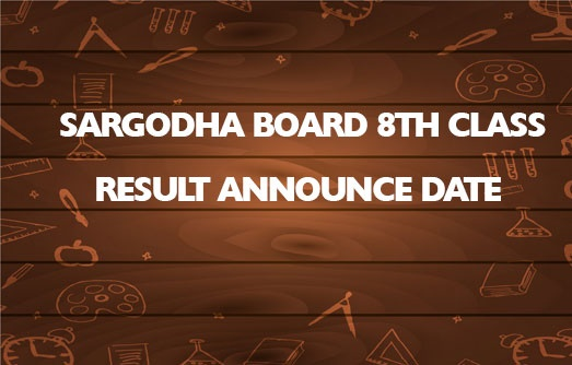 Sargodha Board 8th Class Result 2020