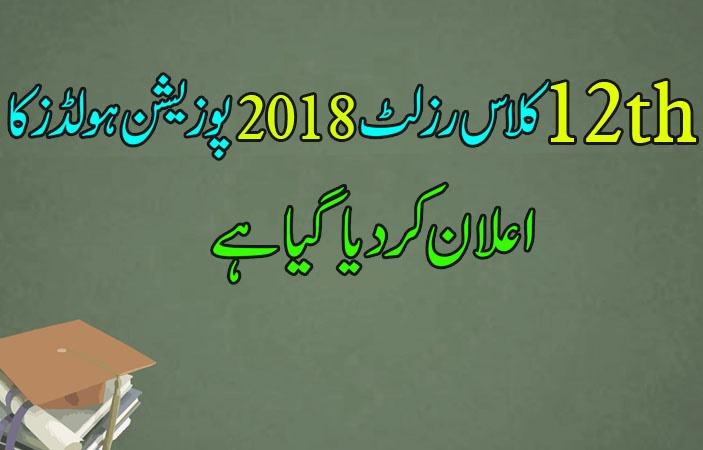Top Position Holders 12th Class Result 2018 Revealed
