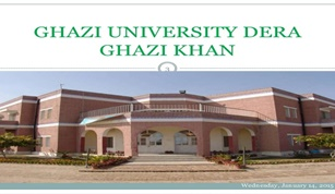 Admission open in Ghazi University, Dera Ghazi Khan 2016: