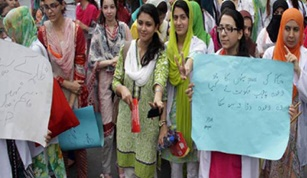 Protest by young scholars out of work, want jobs