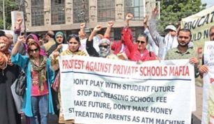 Parents stage strike against fee spikes