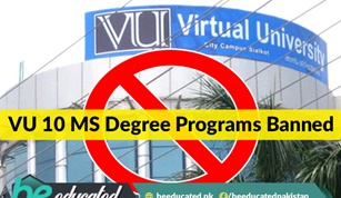 10 MS Degree Programs of Virtual University Declared Illegal
