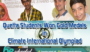 Quetta Students Won Gold Medals in Climate International Olympiad