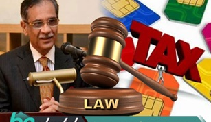 CHIEF JUSTICE TAKES NOTICE OF HIGH TAXES ON MOBILE CARDS