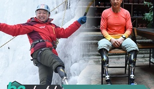 69 Years Old Handicapped Chinese Xia Boyu Climbs the Mount Everest