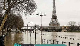 Conditions After Rainstorms in Paris and Lahore
