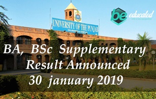 Result of BA/B.sc Supplementary through Punjab University announced