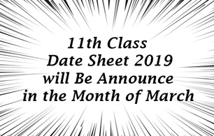 11th Class Date Sheet 2019 of all BISE Boards
