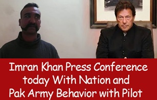 Imran Khan Press Conference today With Nation and Pak Army Behavior with Pilot