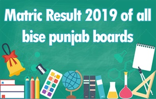 Matric Result 2019 of all BISE Punjab Boards