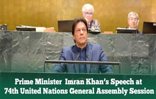 Prime Minister Imran Khan's the 74th session of the United Nations General Assembly in New York.