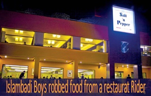 Islambadi Boys robbed food from a restaurat Rider