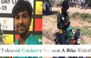 Talented Cricketer Became A Bike Rider !
