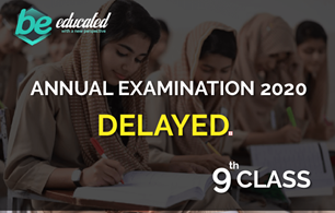 9th Class Annual examination 2020 also been DELAYED till 5 April.