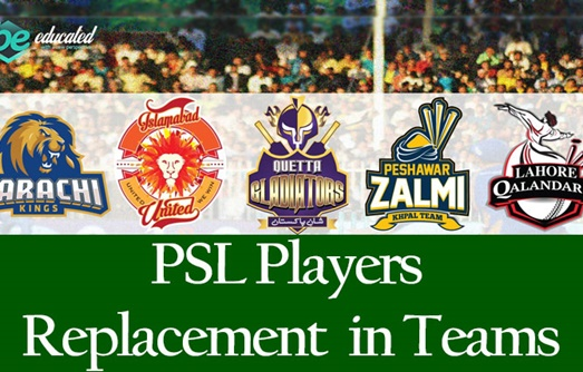 PSL Player Replacement in Teams