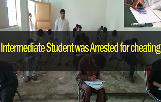 Intermediate Student was arrested for cheating