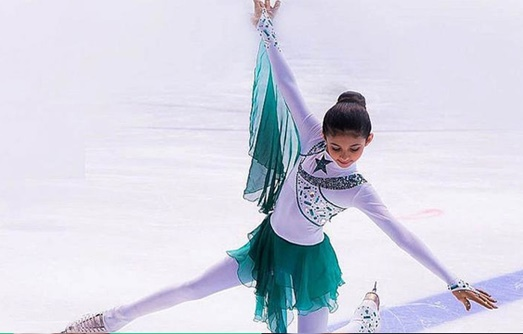 12 year old Mallak Faisal Zafar is the first Pakistani to win at figure Skating