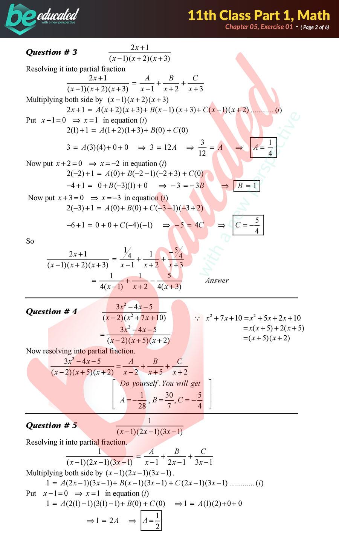 Exercise 5 1 Mathematics FSc Part 1 Notes - Inter Part 1 Notes