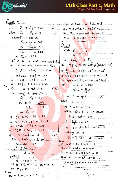 Exercise 6 4 Mathematics FSc Part 1 Notes - Inter Part 1 Notes