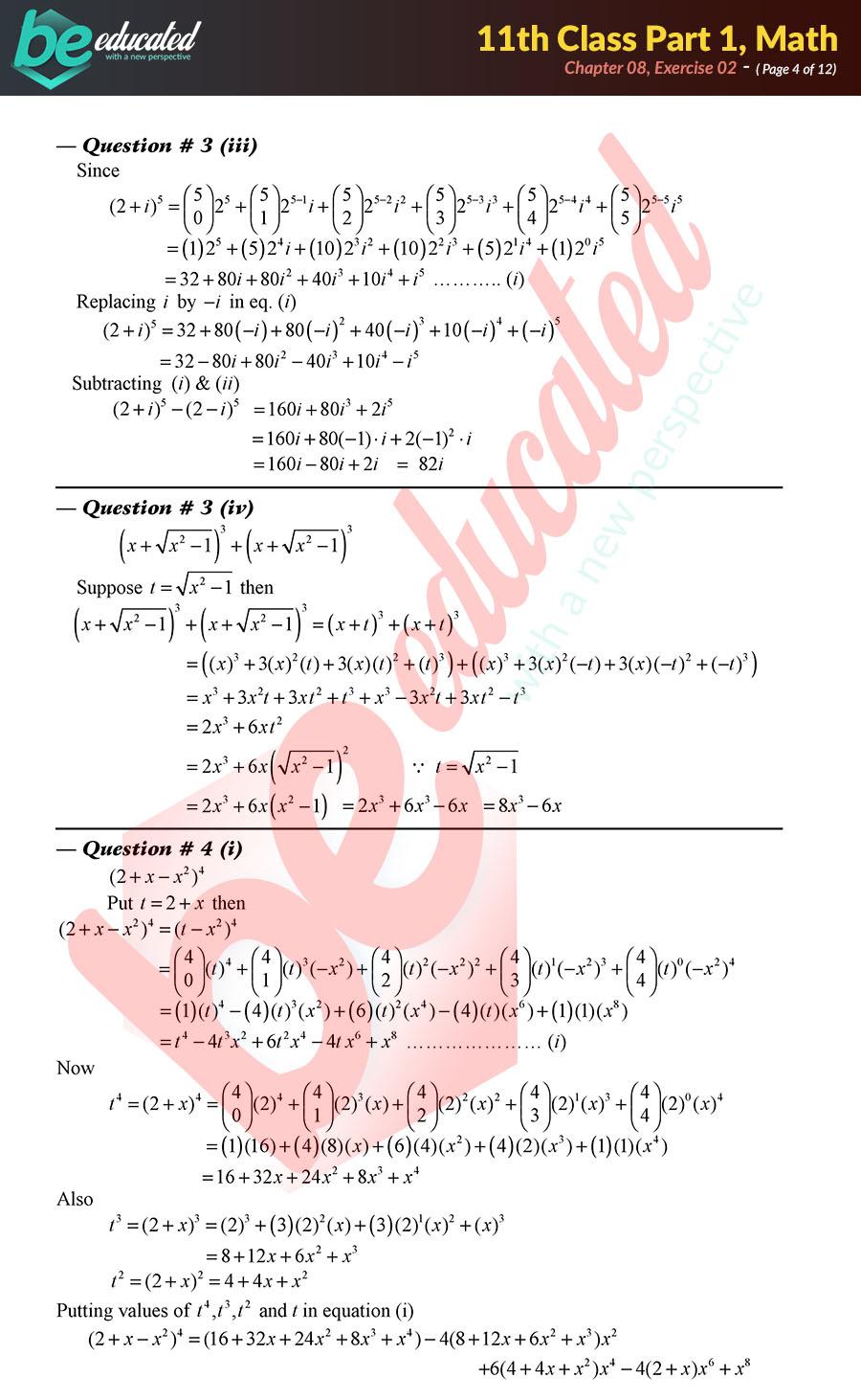 Fsc Part 1 Math Formulas Pdf