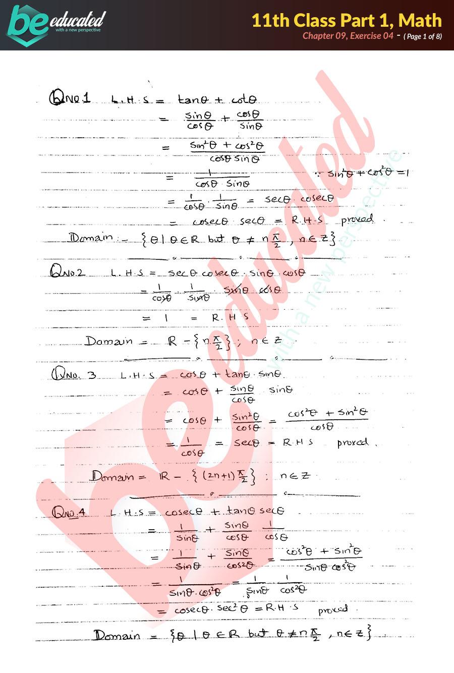 Fsc Part 1 Math Text Book Pdf