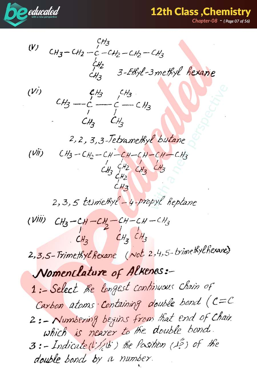 Chapter 8 Chemistry FSc Part 2 Notes - Inter Part 2 Notes