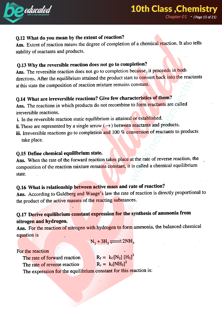 Chapter 1 Chemistry 10th Class Notes - Matric Part 2 Notes