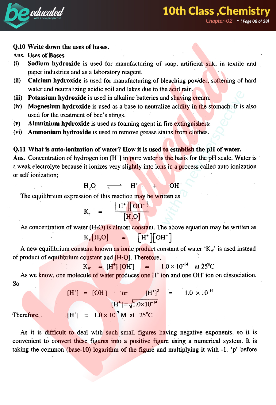 Chapter 2 Chemistry 10th Class Notes - Matric Part 2 Notes
