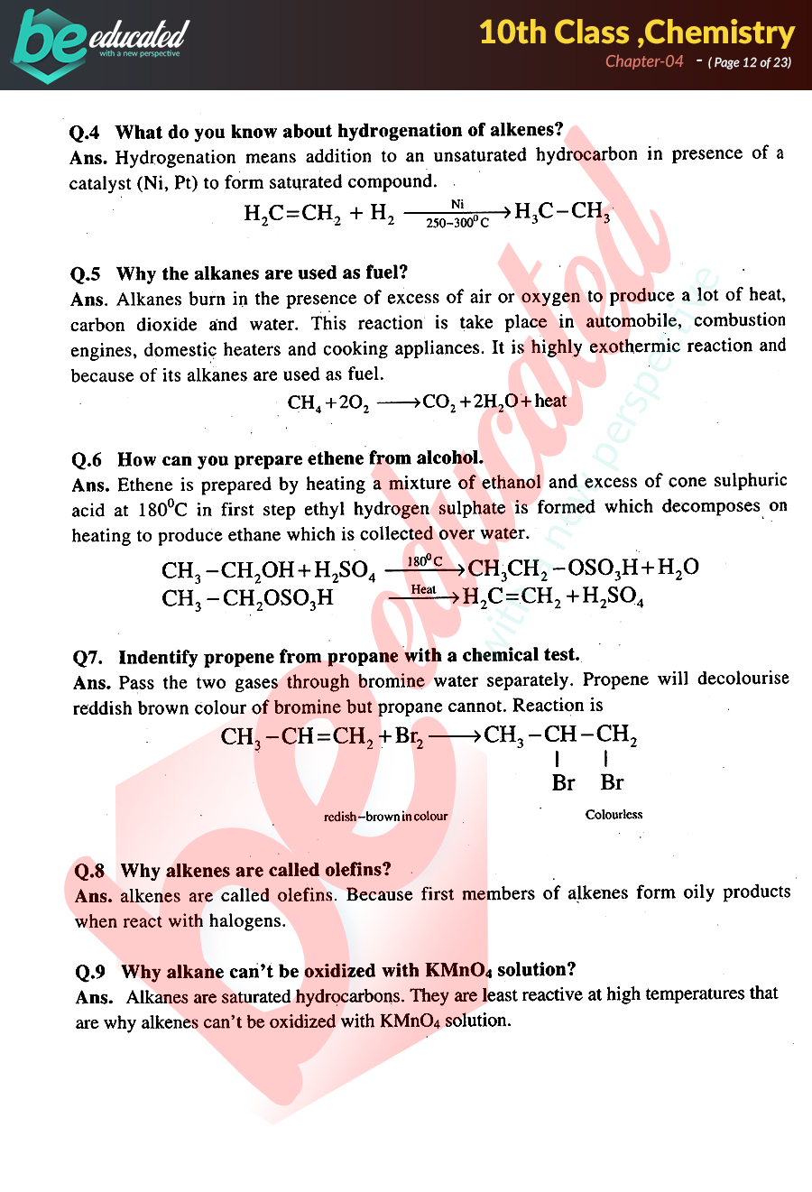 Chapter 4 Chemistry 10th Class Notes - Matric Part 2 Notes