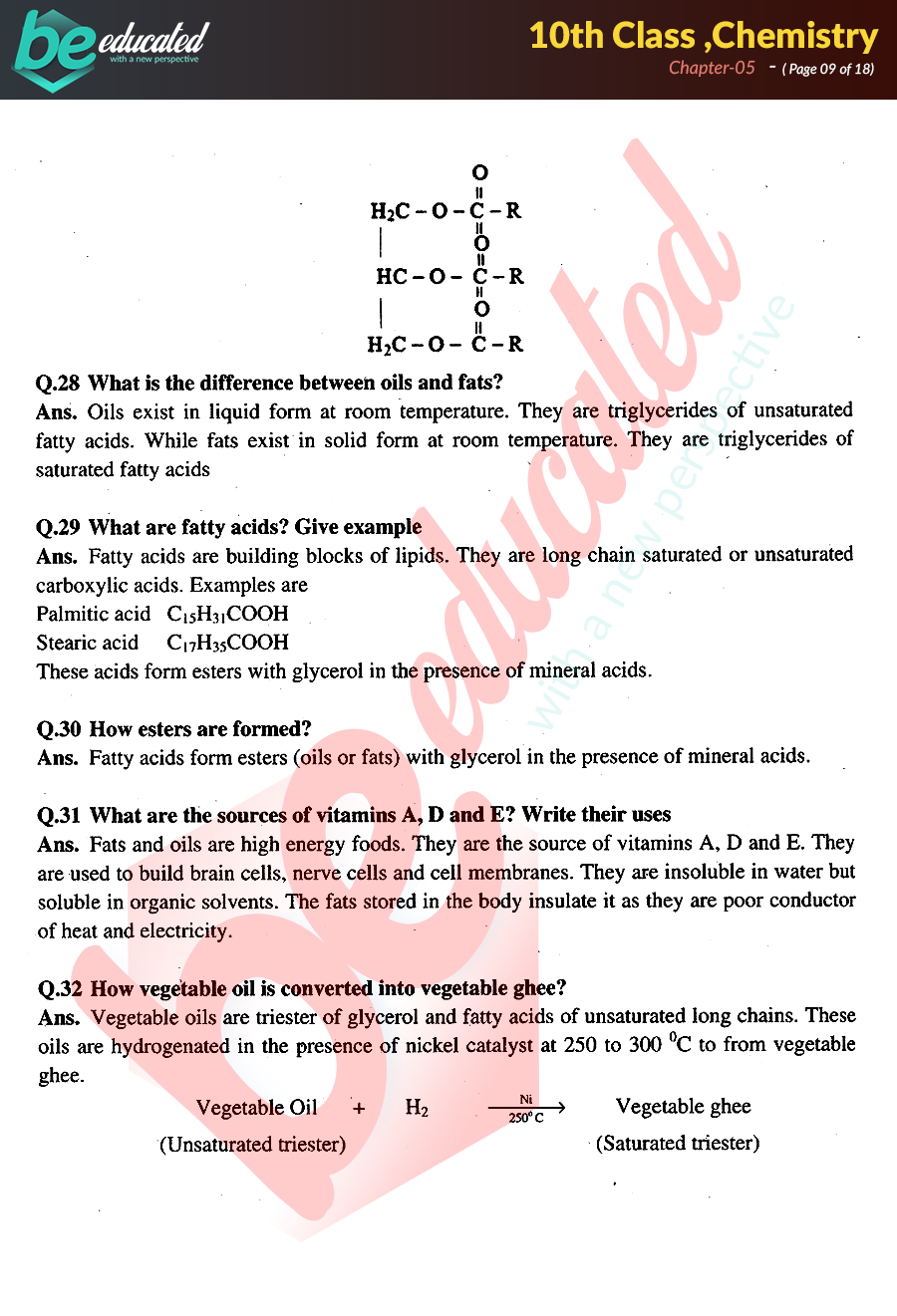 Class 10 Organic Chemistry Notes