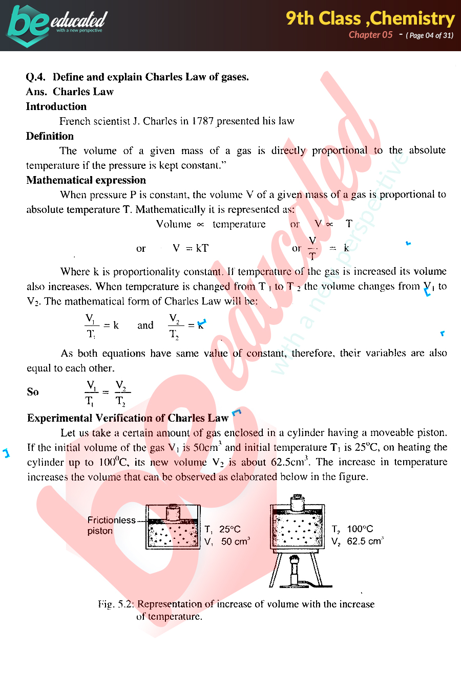Chapter 5 Chemistry 9th Class Notes - Matric Part 1 Notes