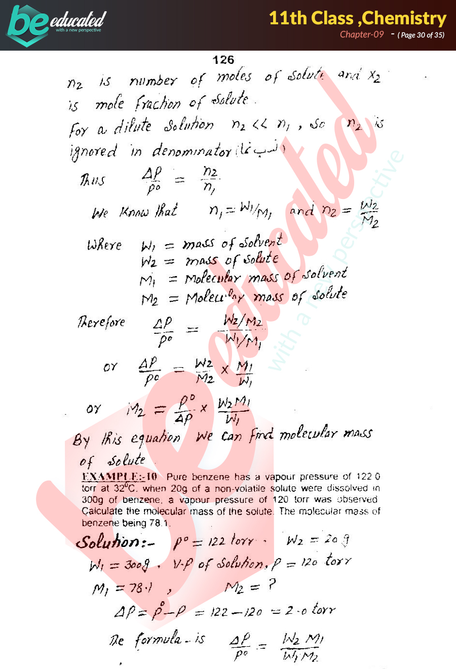 Chapter 9 Chemistry FSc Part 1 Notes - Inter Part 1 Notes