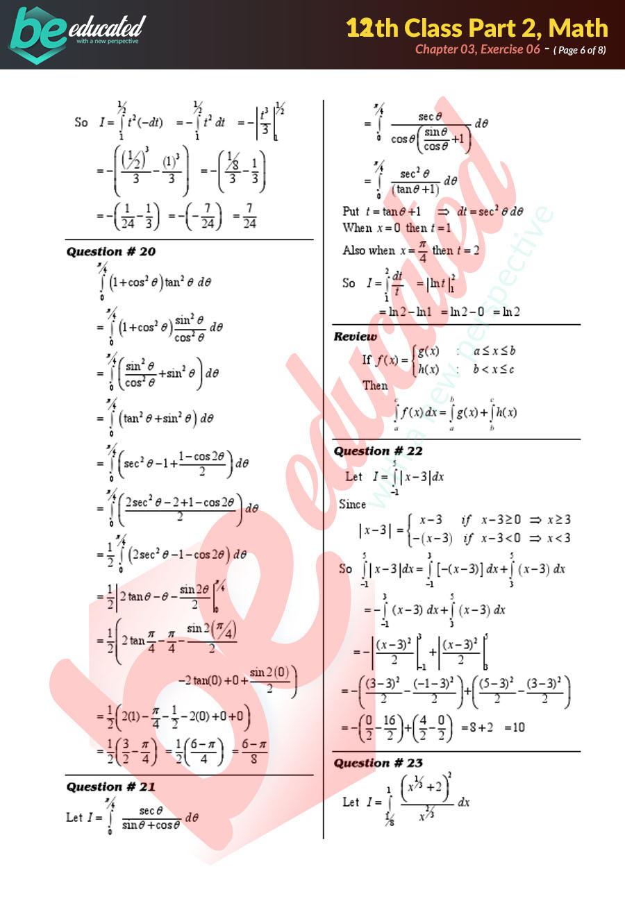 Exercise 3 6 Mathematics FSc Part 2 Notes - Inter Part 2 Notes
