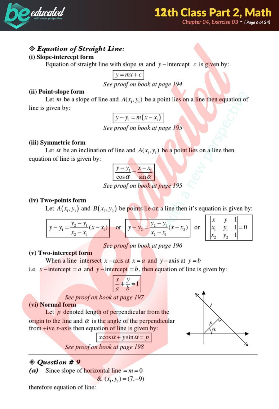 Exercise 4 3 Mathematics FSc Part 2 Notes - Inter Part 2 Notes