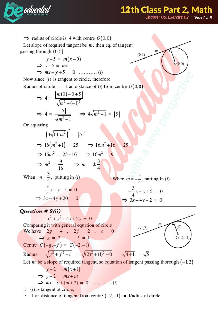 Exercise 6 2 Mathematics FSc Part 2 Notes - Inter Part 2 Notes