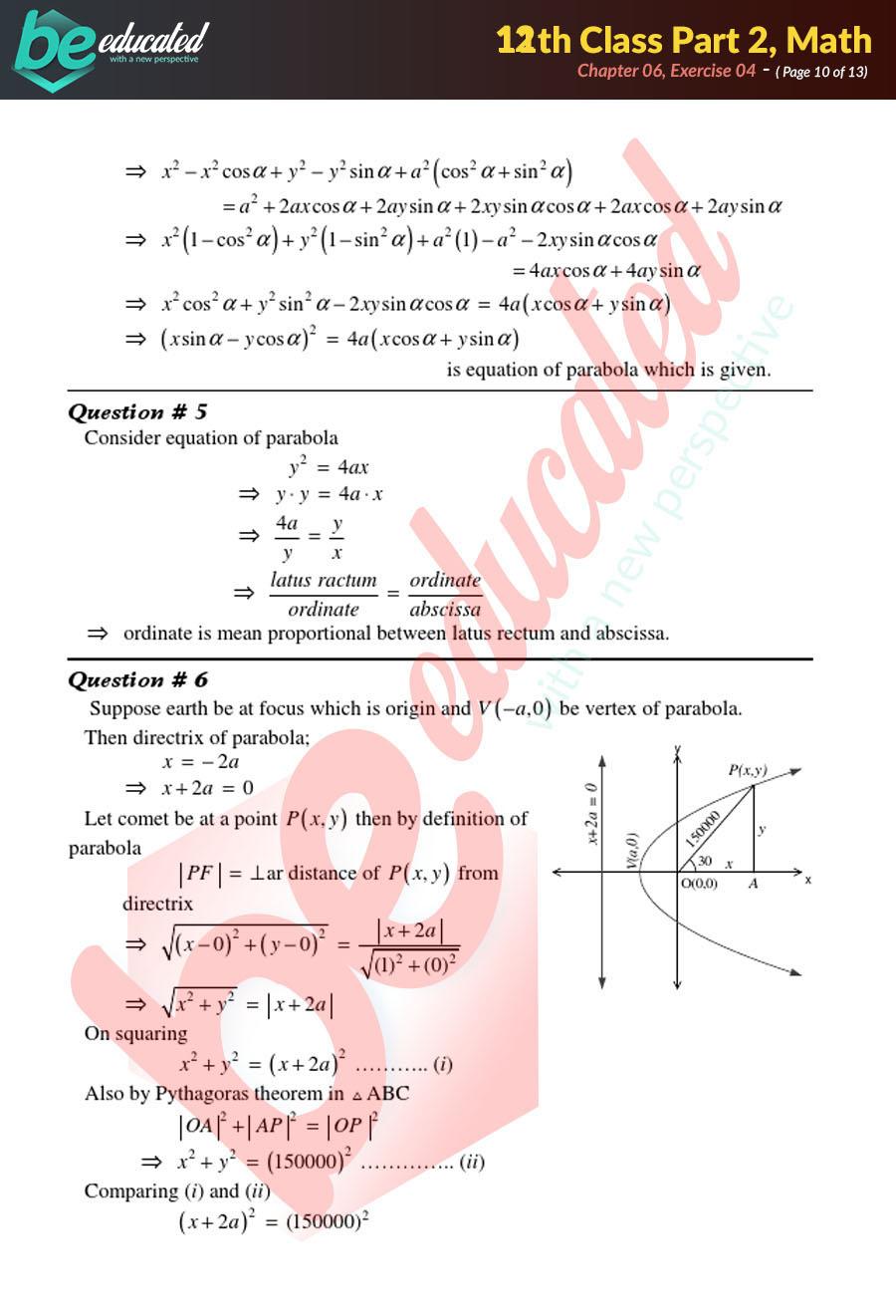 Exercise 6 4 Mathematics FSc Part 2 Notes - Inter Part 2 Notes